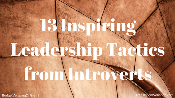 '13 Inspiring Leadership Tactics from Introverts' Being an introvert might help when it comes to great leadership. In this blog, I first list 13 tactics that introverts have used to become successful CEOs. After that, I list 4 steps for introverts to become successful leaders. Finally, I show that leadership is not static; it is a process consisting of 5 stages. Read the blog at http://ift.tt/2bq7plY