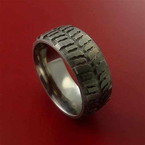 Tire Tread   Wedding Bands and Engagement Rings