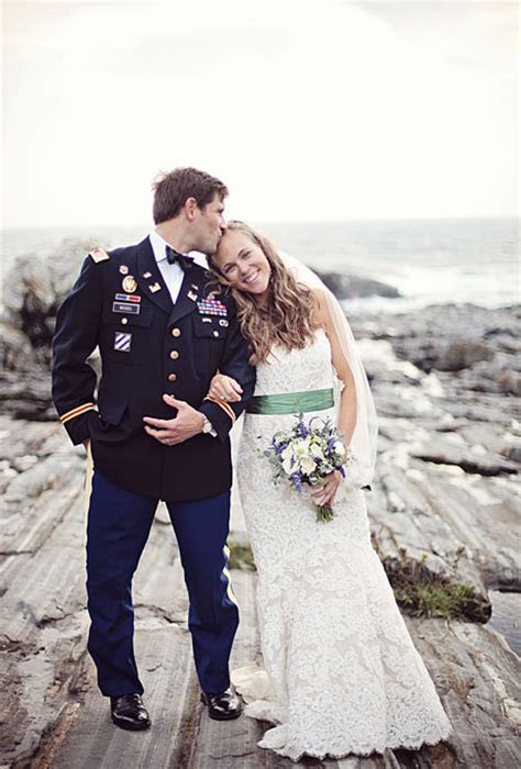 A Rustic Military Wedding in New Harbor, Maine   Rustic