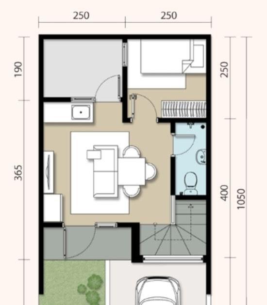 55 Desain Rumah Minimalis 5x10 Meter