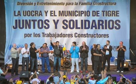 Massa en el marco del festejo por el Día del Trabajador de la Construcción, del sindicato UOCRA