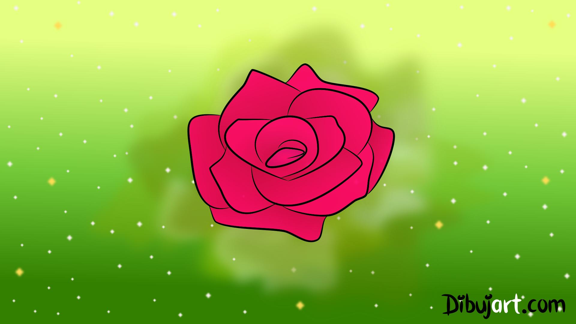 Cómo Dibujar Una Rosa Sencilla Y Fácil 6 Serie De Dibujos De