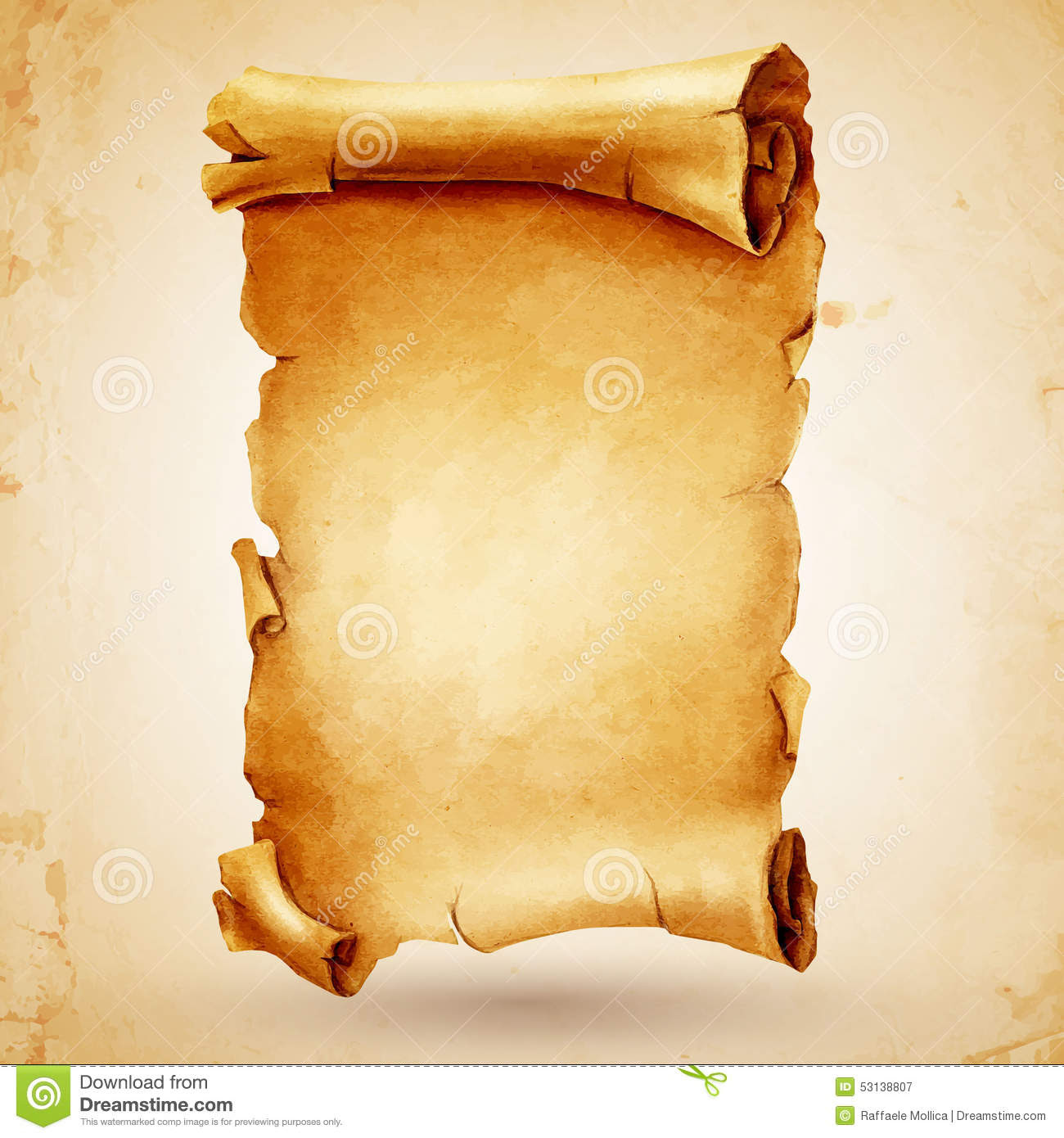 Scroll Paper Stock Image - Image: 34018071