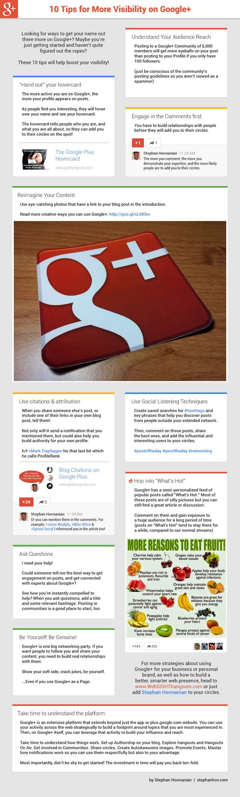 Ten Visibility Tips for Google Plus [#infographic]