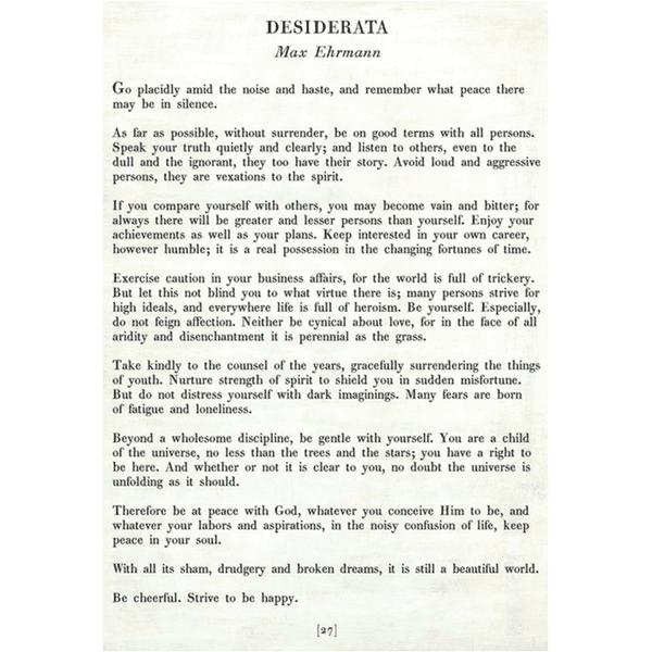 Desiderata Poetry Collection Sugarboo Co