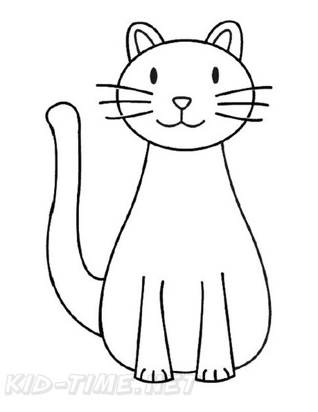 660 Simple Coloring Pages Of Cats Images & Pictures In HD