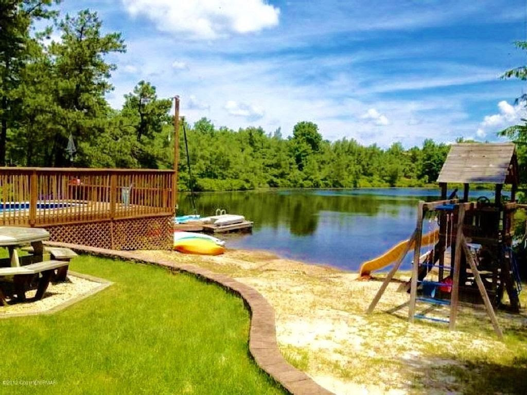 Lakefront in Pocono 2 Docks Swimming  VRBO