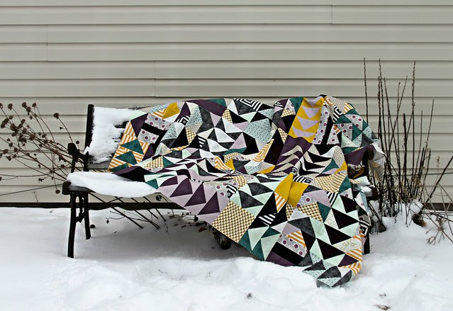 Flying Geese Quilt Top