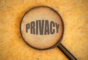 Lupa centró en la palabra privacidad