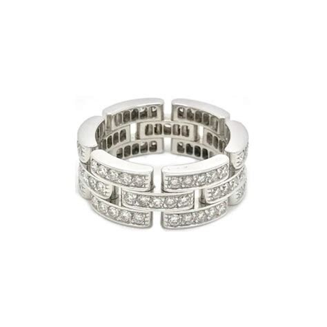 Cartier 18k White Gold Maillon Panthère Ring (B4111700