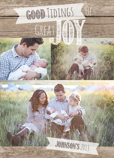 holiday photo cards - Joy Embraced