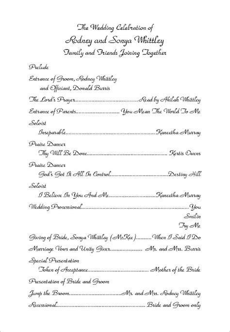 Wedding Ceremony Program Template   36  Word, PDF, PSD