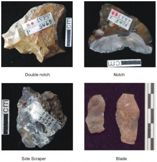 Examples of stone tools found at Nihewan