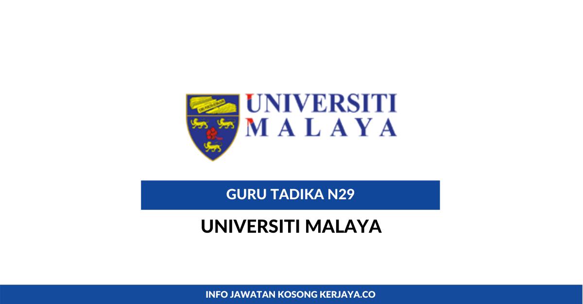 Jawatan Kosong Terkini Guru Tadika Gred N29 Universiti ...