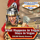 Jackpot Capital What Happens in Vegas Mobile Casino Bonus Giveaway Continues