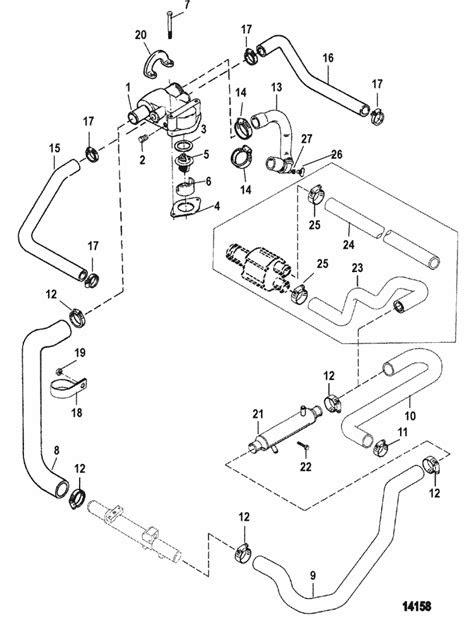 MerCruiser 5.7L EFI GM 350 V-8 1999-2001 Standard Cooling