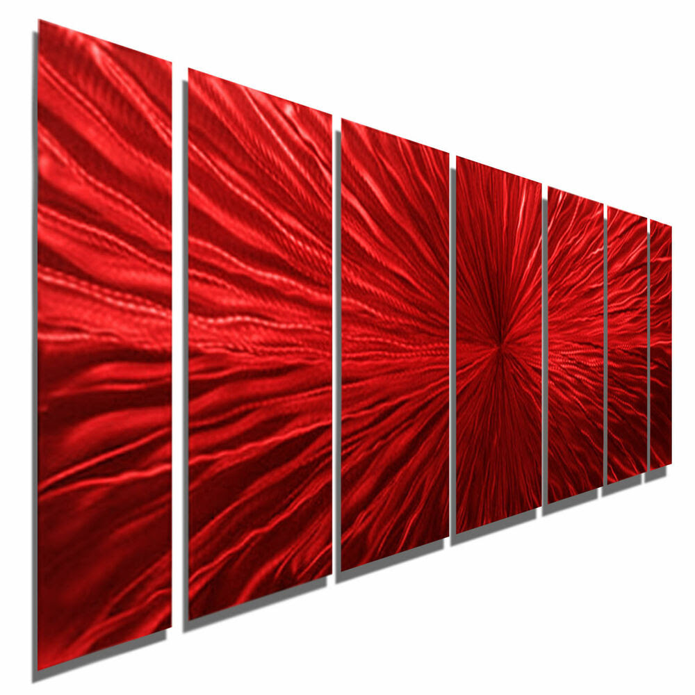 Extra Large Contemporary Wall Sculpture Red Intensity ...