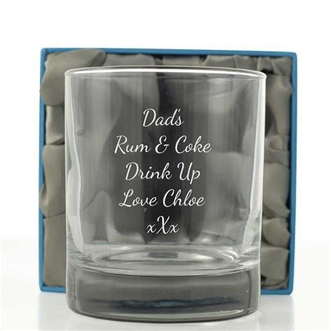 Engraved Stern Whisky Glass   Next Day Delivery