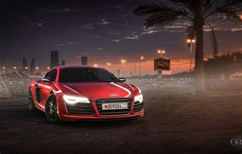 Wallpaper Sunset, Supercar, Red, Bahrain, Wallpaper, Audi images for desktop, section audi