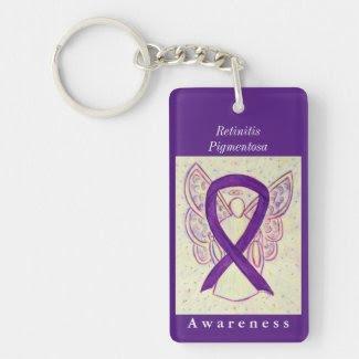 Retinitis Pigmentosa Awareness Ribbon Keychain