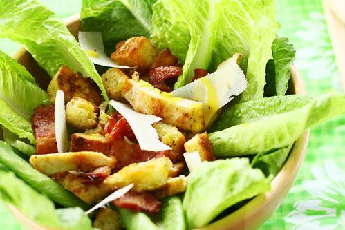 De salade van nonkel Cesar van dichtbij