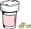 Pills And Bottle 2 Clip Art