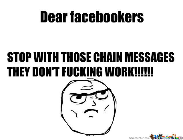 Image result for chain messages meme