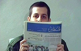 Captive soldier Gilad Shalit as seen in video released by Hamas (Photo: Reuters)