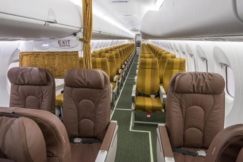ASKY Airlines Q400 interior