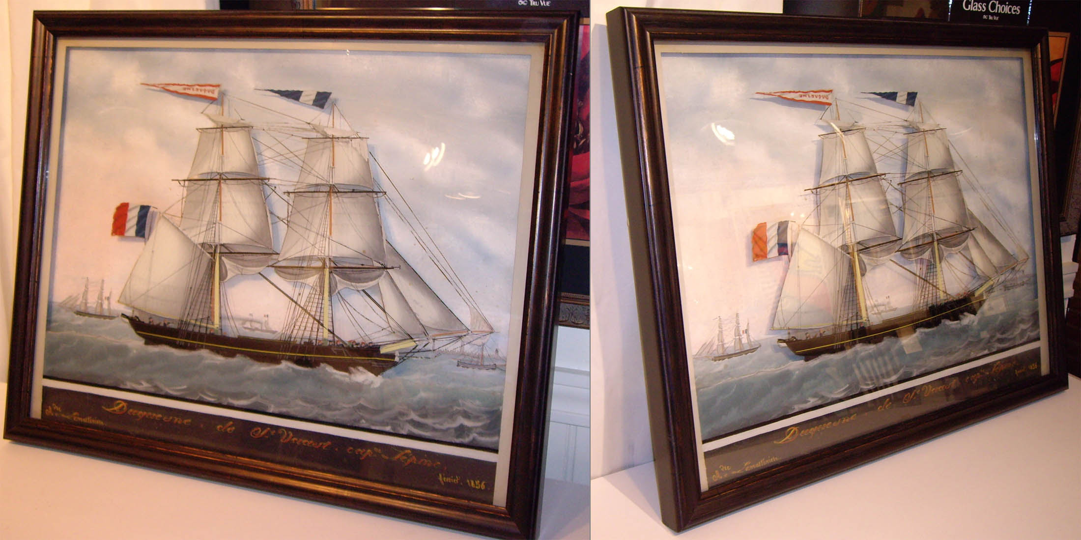 Frame Of The Week Ship Under Glass Baldwin Hill Art Framing
