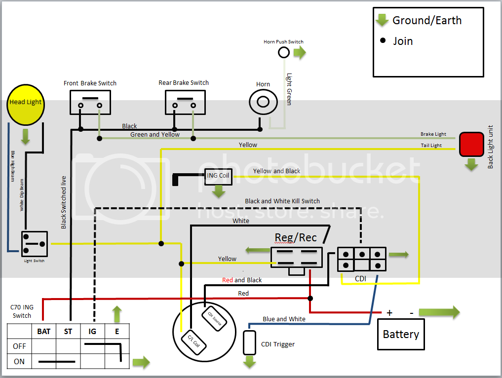 Honda C90 Wiring Diagram 6v    Eightstrings Blogspot Com