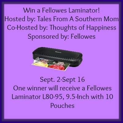 Enter the Fellowes Laminator Giveaway. Ends 9/16.