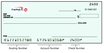 Capital One Routing Number and Wiring Instructions - Online Bank