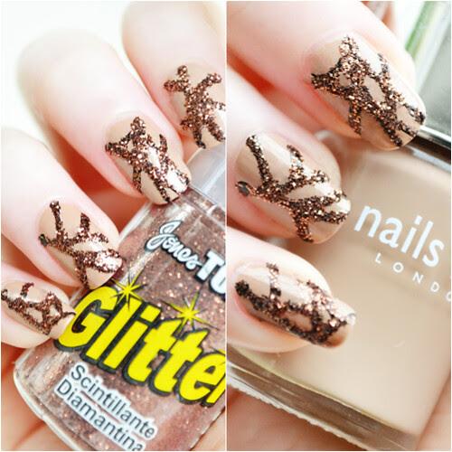 Glitter nails nail art