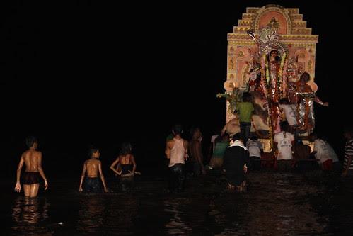 Durga Visarjan Juhu Beach Though The Eyes of a Poet by firoze shakir photographerno1