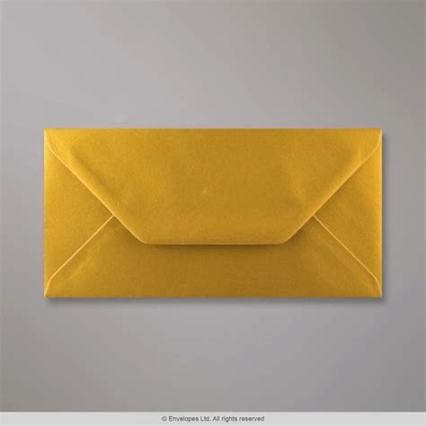 110x220 mm (DL) Metallic Gold Envelope   D04DL   Simply