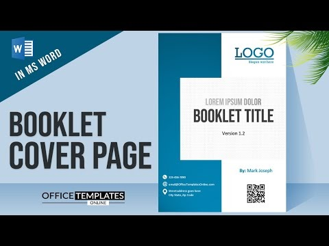 How to Create Booklet Cover Page