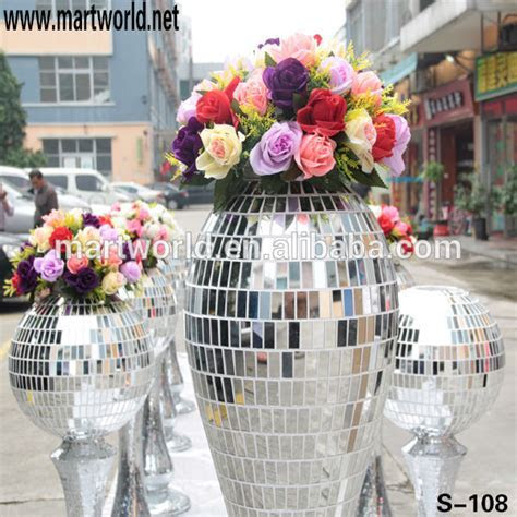 2019 Hot sale wedding decoration pillar mirror glass