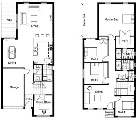 smallnarrow plot house plans images  pinterest