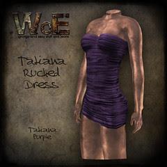 Tatiana Ruched Dress - Purple
