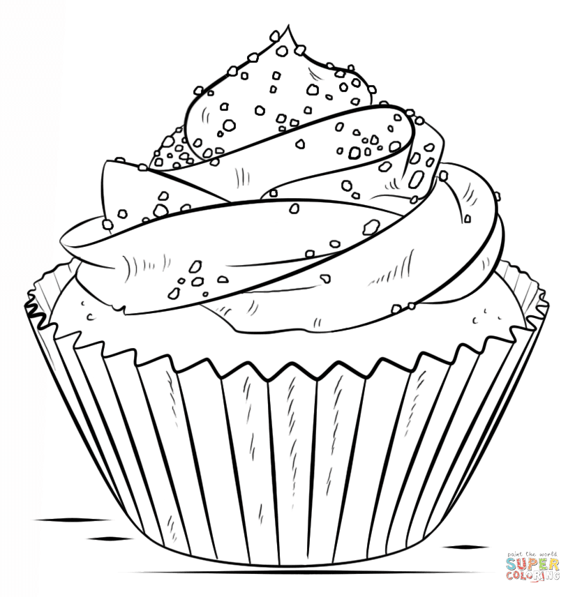 5500 Colouring Pages Of Cupcakes For Free