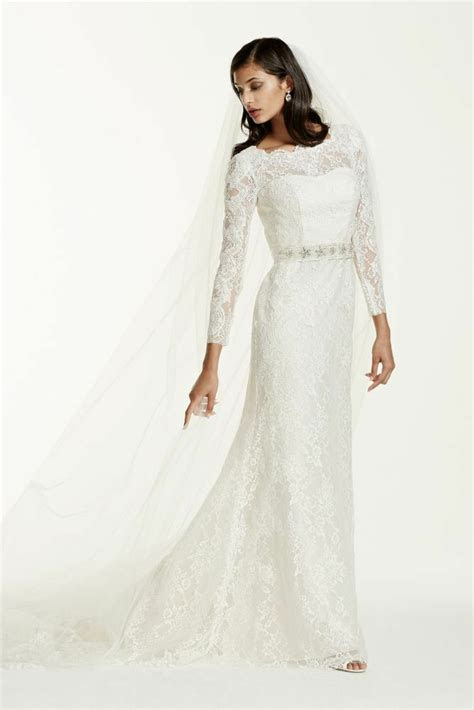 galina signature long sleeve wedding dress  beaded