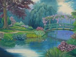 monet garden paintings