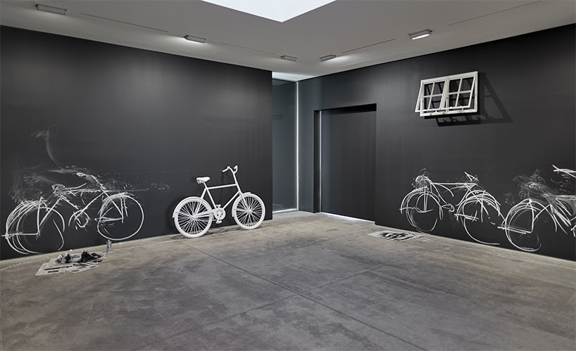 robin rhode: chalk bikes, bulbs and barbed wire at lehmann maupin