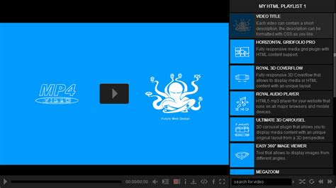 ultimate video player wordpress plugin  fwdesign