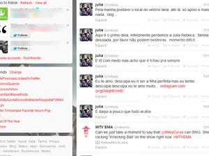 Mensagens foram postadas pela garota no dia em que foi encontrada morta (Foto: Reprodução/Twitter)