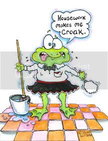 FROG CLEANING HOUSE