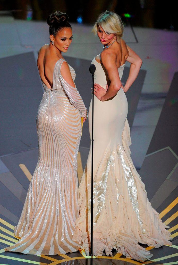 vestidos de Jennifer López y Cameron Diaz Oscar