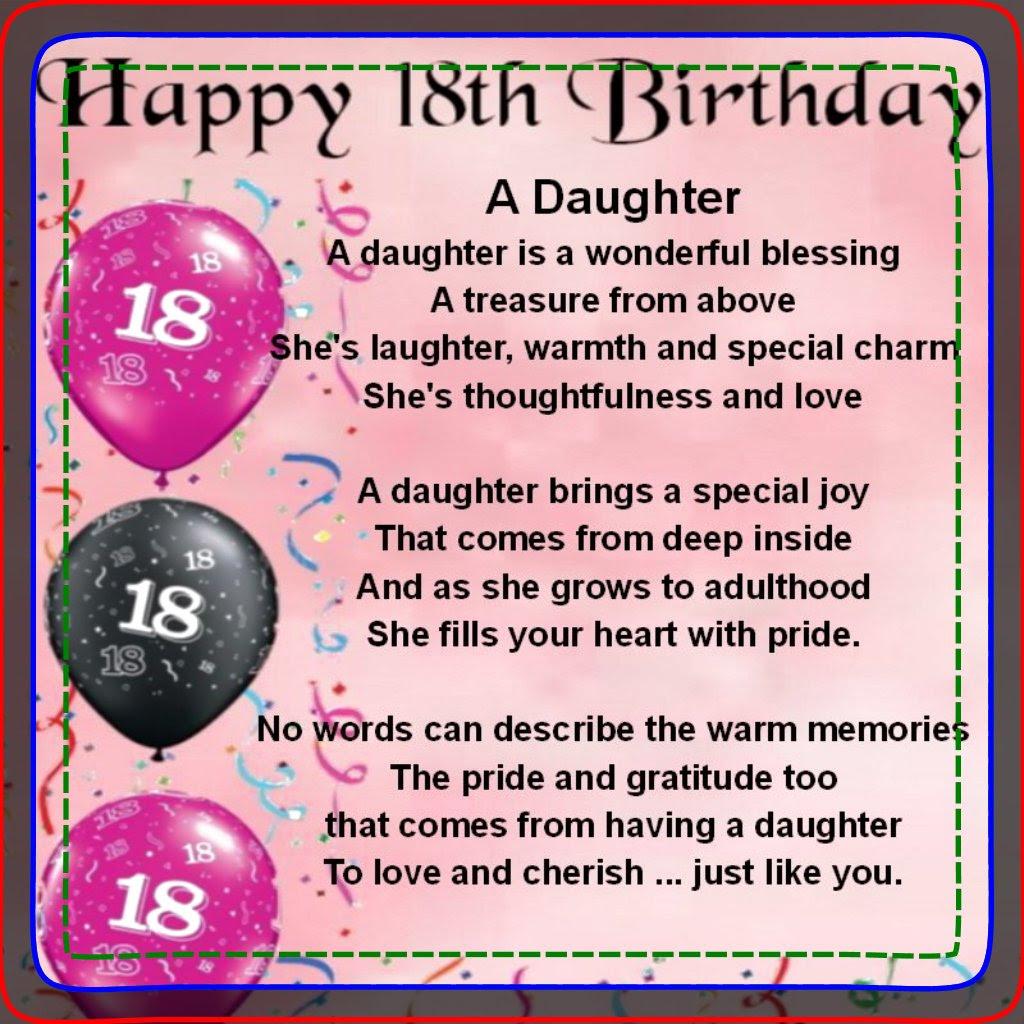 Spruche Zum 18 Geburtstag Tochter Geburtstag