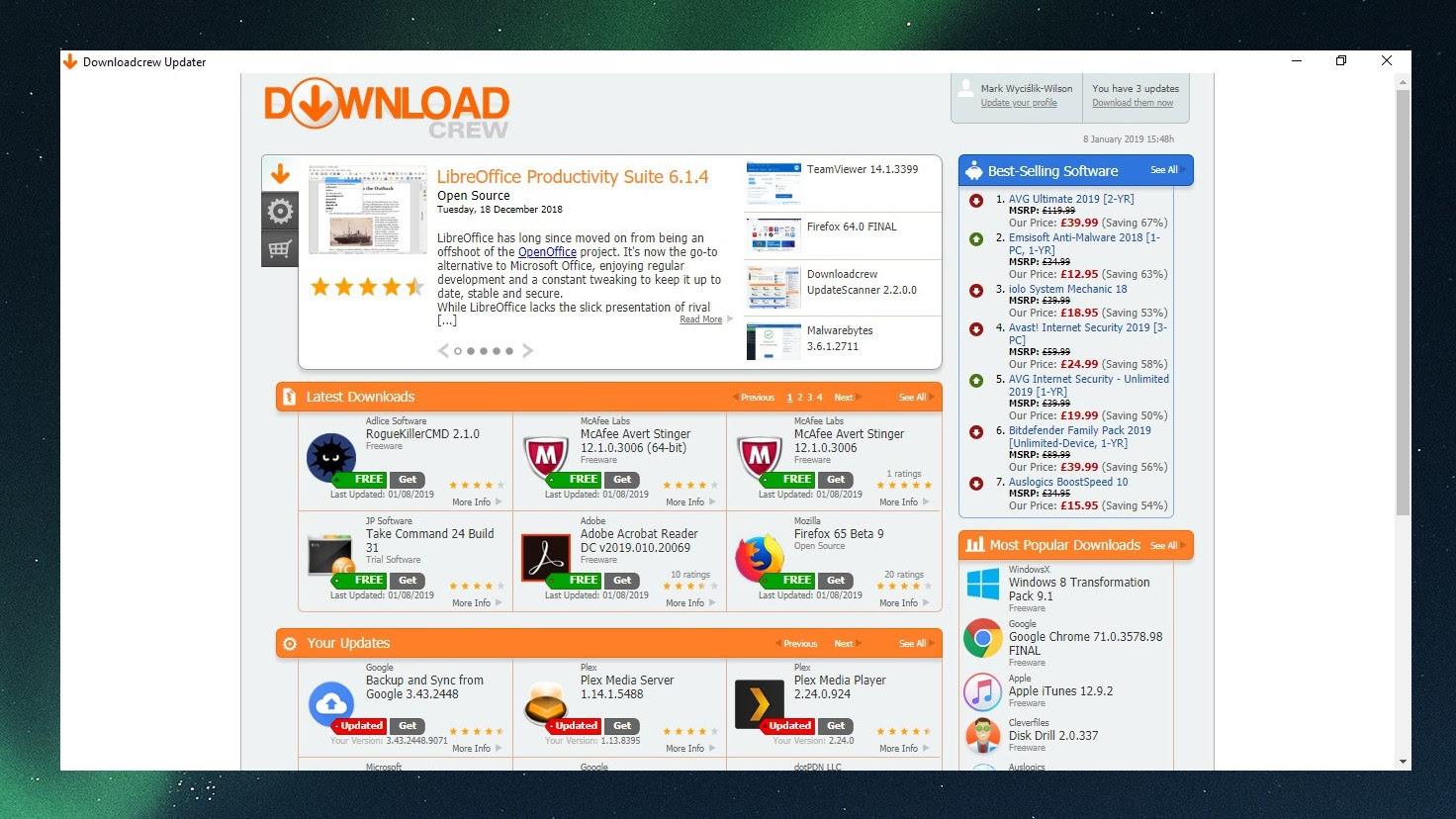 Downloadcrew UpdateScanner